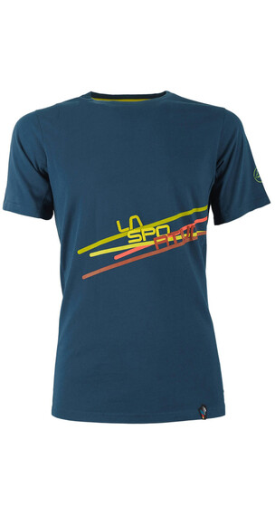 """La Sportiva M's Stripe 2.0 T-Shirt Ocean/Citronelle"""
